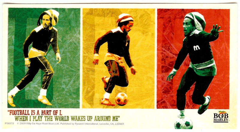Bob Marley football poster montage