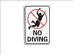 No Diving desktop wallpaper 1024