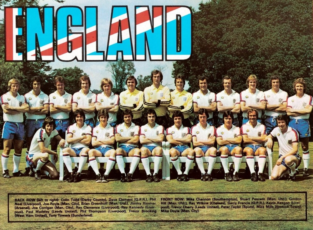 England 76-77 Home Team - click to view larger