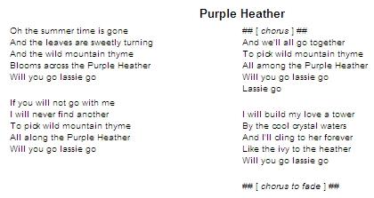 Purple Heather lyrics