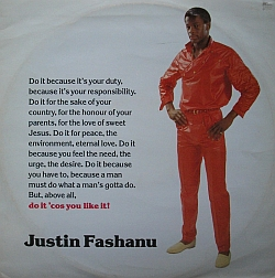 Justin Fashanu single cover