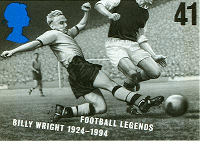 Billy Wright on a stamp