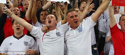 Singing England fans