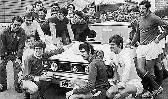 The 1970 England squad gather round