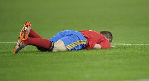 Iniesta grounded