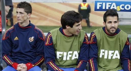 Torres, Martinez and Fabregas