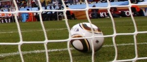The ball over the line
