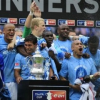 Man City with the FA Cup