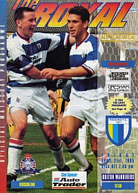 Reading FC programme - April 1995 v Bolton