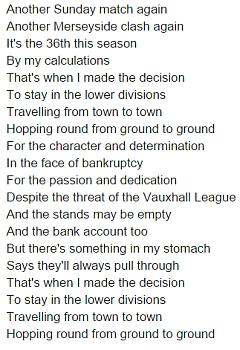 chumbawamba - groundhopping - lyrics