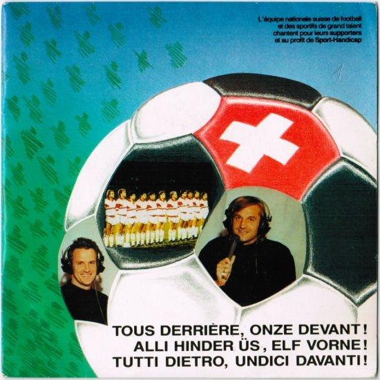 Jacky Lagger et les supporters au profit de Sport-Handicap - Tous derrière, onze avant! - Switzerland 1990