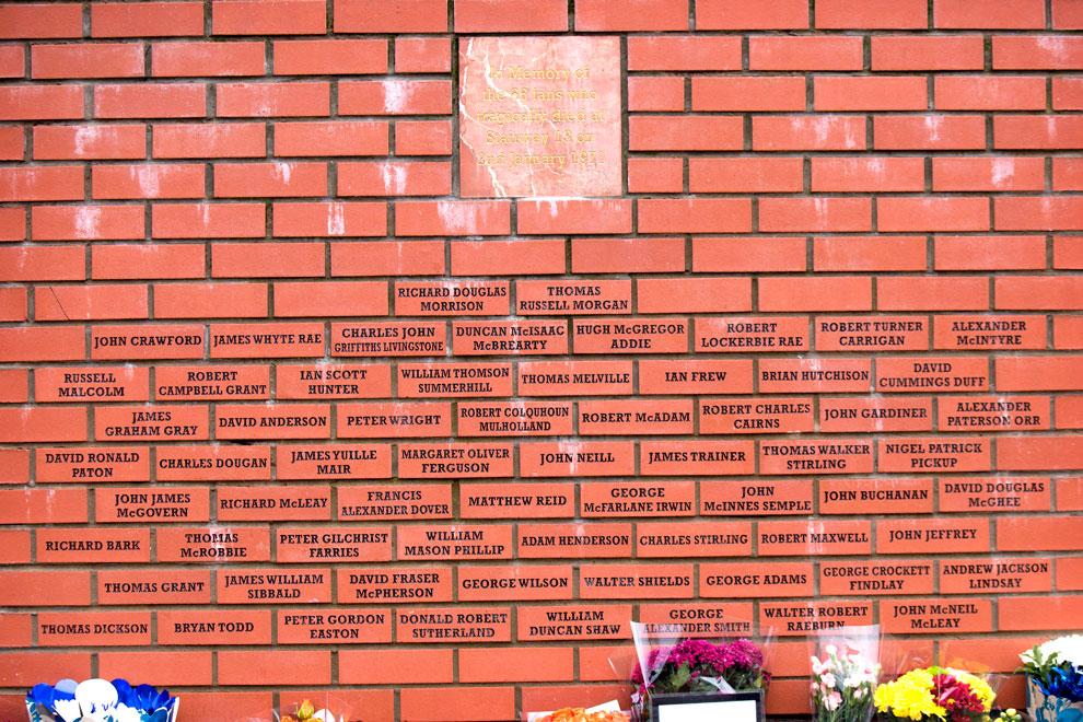 1971 Rangers Disaster memorial