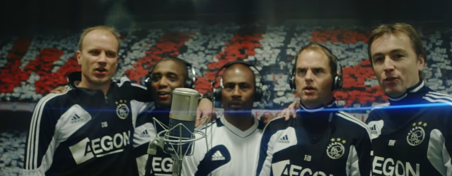 Ajax players singing