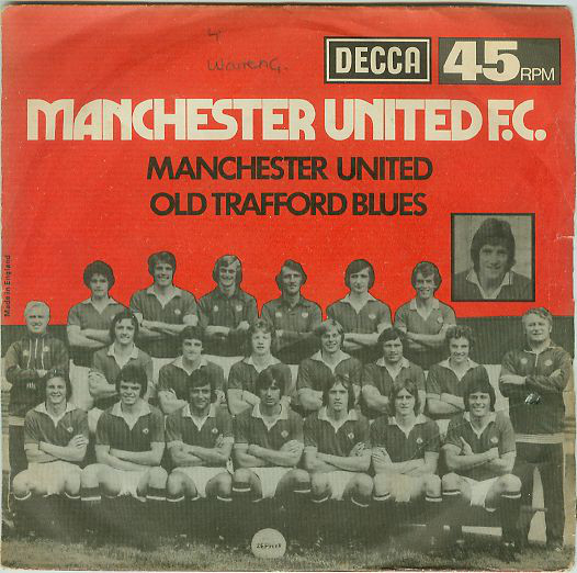 manchester united fc 1976 fa cup single cover